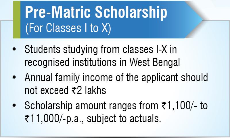 West Bengal Pre- matric Scholarship