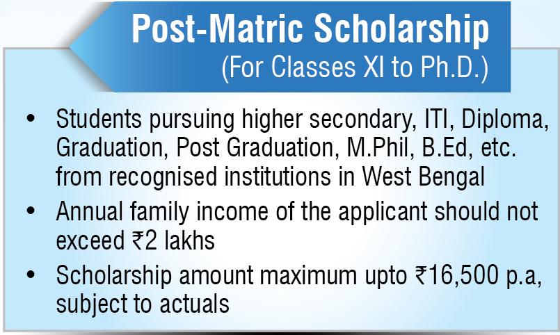 West Bengal Post Matric Scholarship